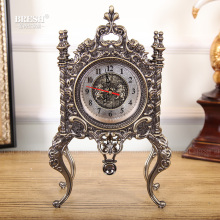European bronze antique clock quartz font b watch b font antique clock Home Furnishing living room