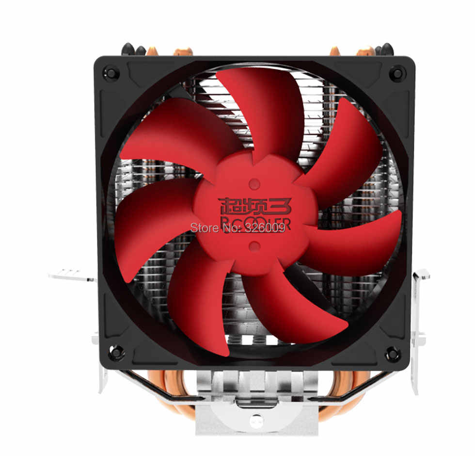 Dual-fan 2 heatpipe CPU Cooler cooling for Intel LGA1151 775 1150 1155  radiator for AMD CPU fan PcCooler S80Ex