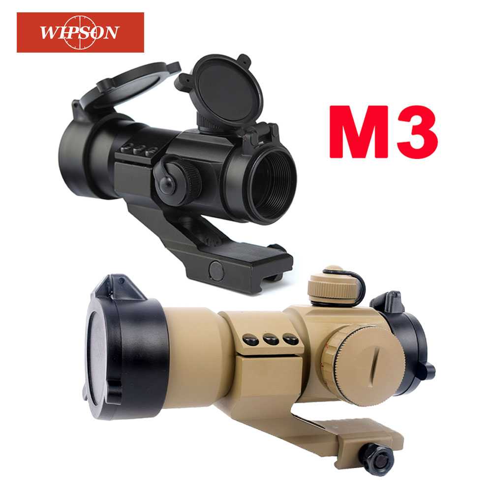 WIPSON Aim AT M3 Optical sight Red Dot Hunting Scope Collimator Sight Rifle Reflex Shooting L Shaped Mount For Air gun|sight rifle|optic sight|hunting scopes - title=