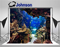 Настенный Фотофон высокого качества с компьютерной печатью аквариумные растения тропические красочные рыбки коралловые аквариумные фоны ...