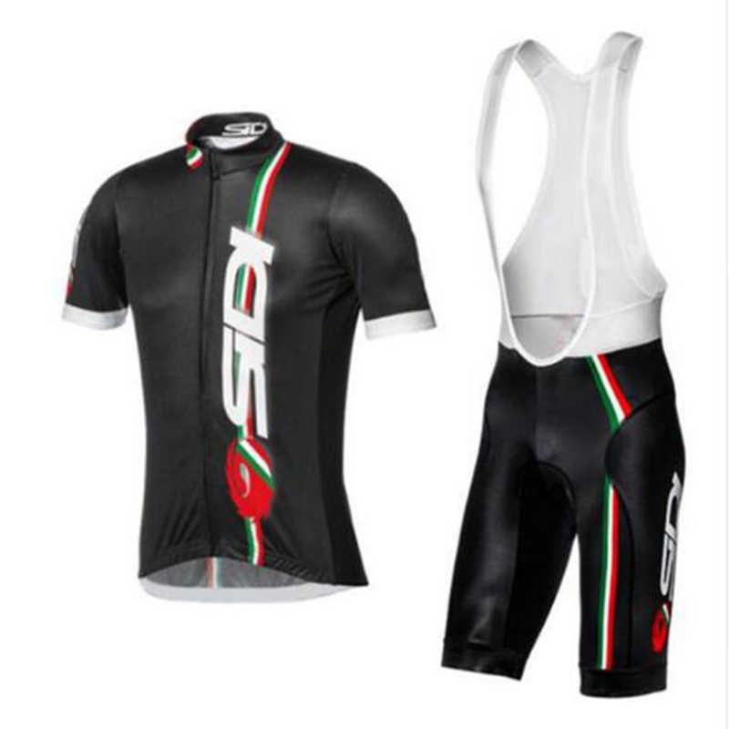 2018 verano Sidi equipo Ciclismo JERSEY de secado rápido Ropa Ciclismo para Hombre Ropa de bicicleta GEL transpirable almohadilla babero conjuntos cortos Mujer hombres