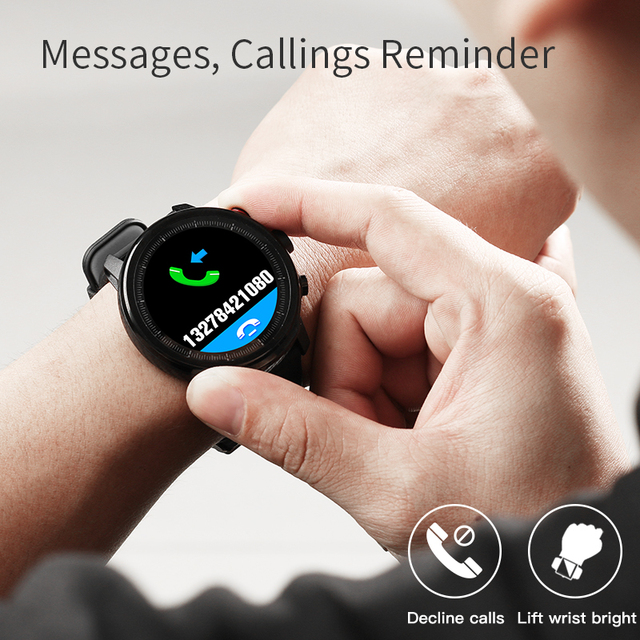 """Slimy L5 Smart Watch Standby for 100 Days 1.3"""" IP68 Waterproof Swimming Smartwatch Support Led Lighting Message Call Reminder 4"""