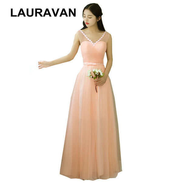 robe soiree sexy long 2018 party time formals size 8 peach color bridesmaid  gowns formal women ... 0e408272f33c