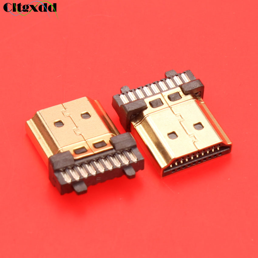 19 Pin HDMI Male Plug Connector Gold-plating HDMI Sockect Repair Replacement Soldering A Type