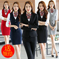 Work wear women vest set ol front desk autumn and winter long-sleeve stewardess uniforms work wear