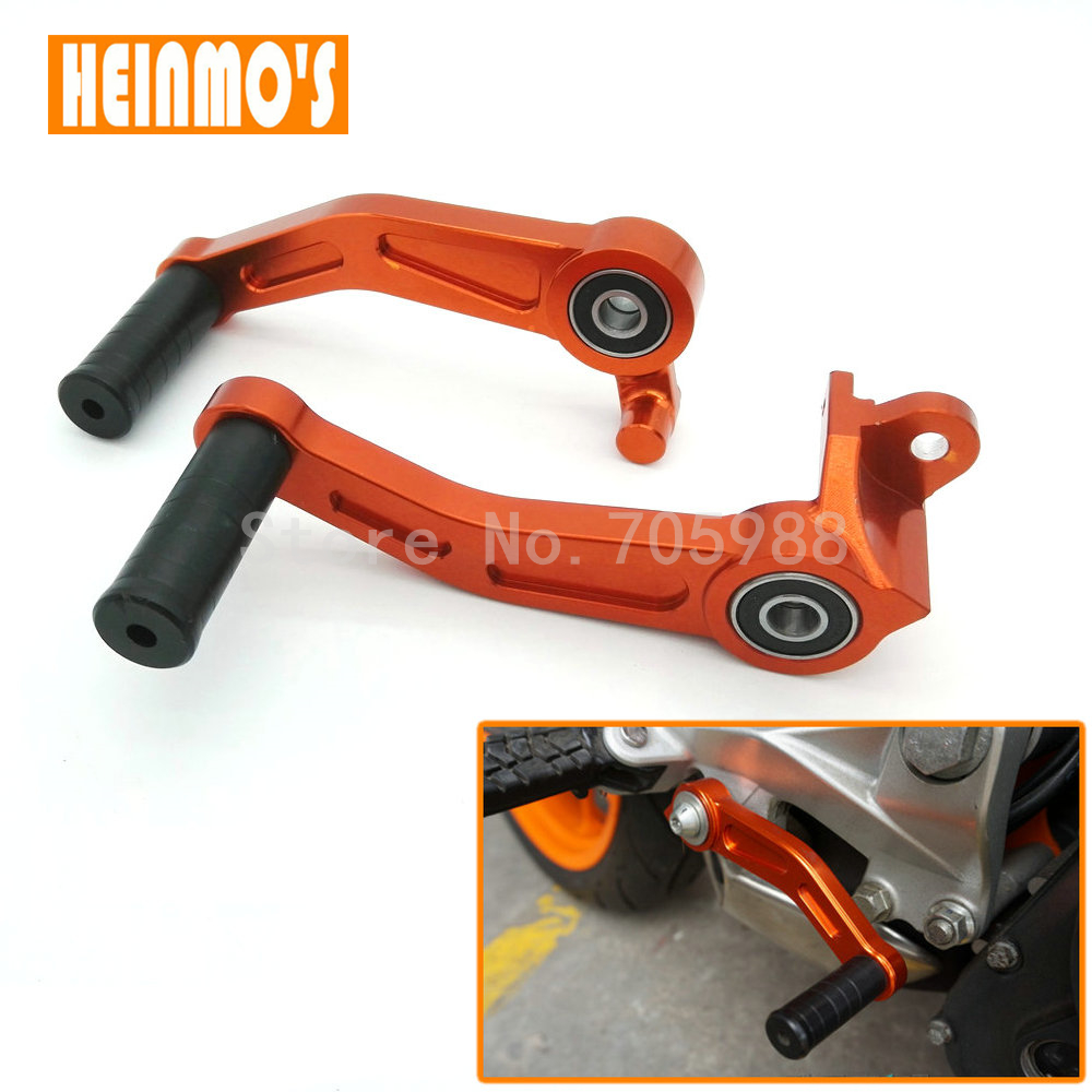 Motorcycle Motorbike CNC Aluminium Brake Clutch Gear Pedal Lever For KTM DUKE 125 200 390 2013 2014 2015 for ktm duke rc 125 200 390 motorcycle cnc foot brake pedal lever gear shift levers orange