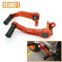 New Listing Orange Motorbike CNC Aluminium Brake Clutch Gear Pedal Lever For KTM DUKE 125 200