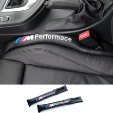 car-styling Car Seat Gap Filler Soft Pad Padding Spacer For BMW M Performance E46 E39 E36 F30 F10 E34 X5 E53 E30 F20 M3 M5 M6