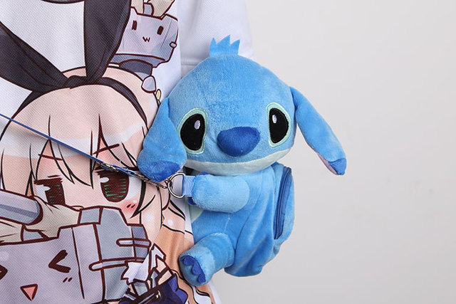 New Cute Cartoon Stitch Plush Bag Toy Childrens Gifts Kindergarten Boy Girl Baby Student Bags For