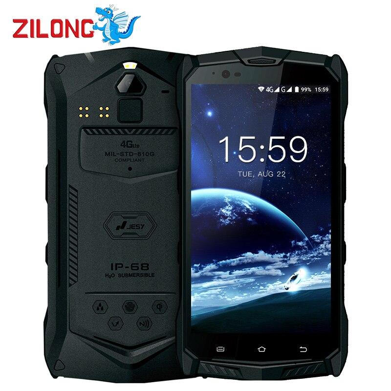 JESY J9S IP68 Waterproof 5.5Inch 6150mAh Mobile Phone 4GB RAM 64GB MT6755 Octa Core 16MP USB Type C Ruggerdised 4G NFC Cellphone