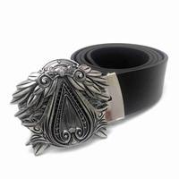 Assassin S Creed Leather Belt Men Designer Belts Men High Quality Metal Belt Buckle Mens Big