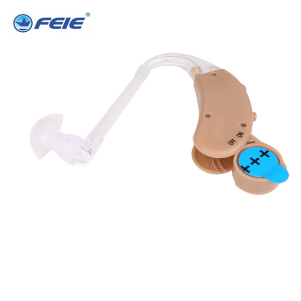 New Tech analog BTE mini earphones deaf  S-268 hearing aid adjustable tone sound amplifier  Drop Shipping analog bte hearing aid deaf sound amplifier s 288 deaf aid with digital processing chip free shipping