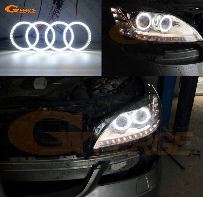 Pour Mercedes Benz W221 S classe S350 S400 S500 S550 S600 S63 S65 AMG Excellent éclairage Ultra lumineux smd led Angel Eyes kit