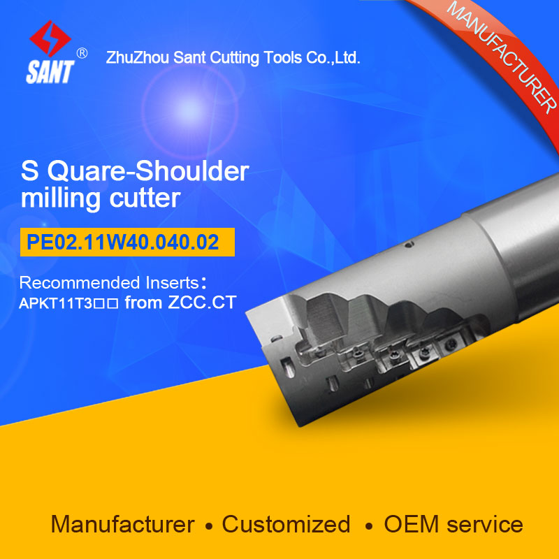 Suggested EMP04-040-XP40-AP11-02 Indexable Milling cutter SANT PE02.11W40.040.02 with APKT11T3 carbide insert