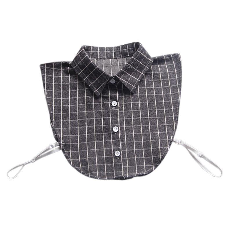 Apparel Accessories Women Men Boys Girls Half Shirt Fake Collar Plaid Pattern Detachable Collars Blouse Tops Lapel Collar 6 Styles