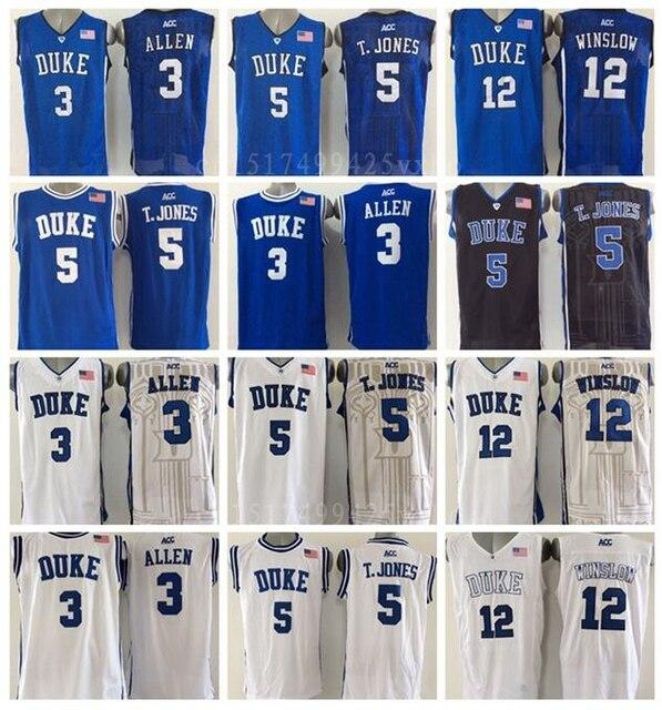 dacd89dda61 ... duke blue devils college 3 grayson allen basketball jerseys 5 tyus  jones 12 justise winslow jersey