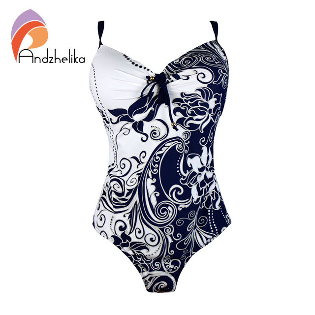 L-7XL Plus Size Swimwear Sexy One Piece Women Swimwear White Floral printing High Waist  bodysuit Swimsuit  monokini TG1051A