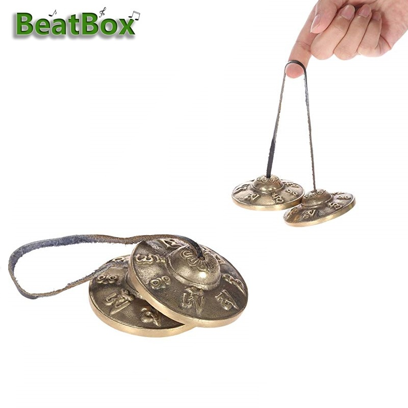 Strict Beatbox Handcrafted Tibetan Meditation Tingsha Finger Cymbal Bell Buddhist Lucky Symbols Up-To-Date Styling Bells & Chimes Sports & Entertainment