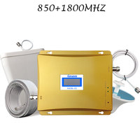 Lintratek Dual Band GSM 850 LTE 1800Mhz Signal Booster 65dB Gain 2G 850 4G 1800 Cellular