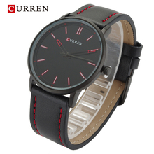 Curren Brand Luxury Casual Sport Watch Men Genuine leather Alloy Urltra Thin Case Fashion Male Watches