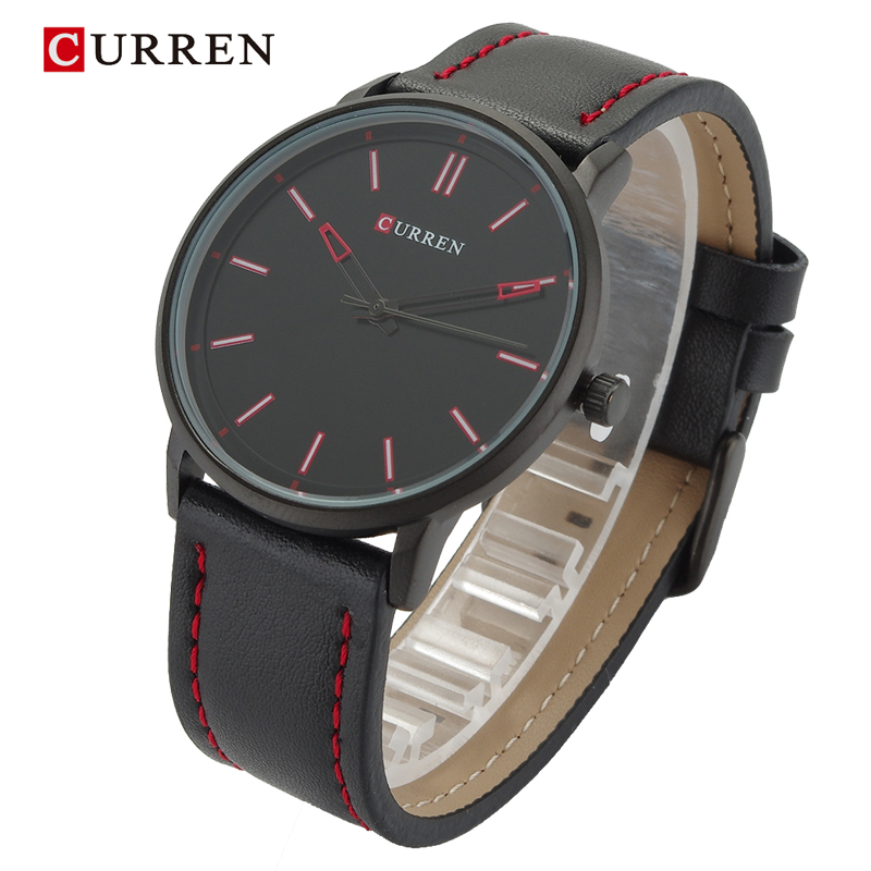 Curren Brand Luxury Casual Sport Watch font b Men b font Genuine leather Alloy Urltra Thin