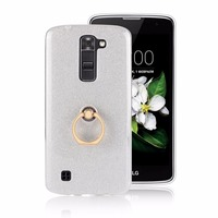 For LG K8 Case Silicone Silicons Cover Tpu Soft 5 0 Inch Bling Glitter Pink Cute