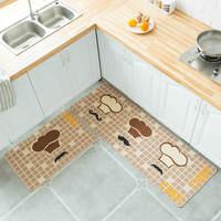 2pcs/set Floor Mat Non slip Oil proof Kitchen Carpets American Style Kitchen Long Rugs Entrance Doormat tapis cuisine Home Decor