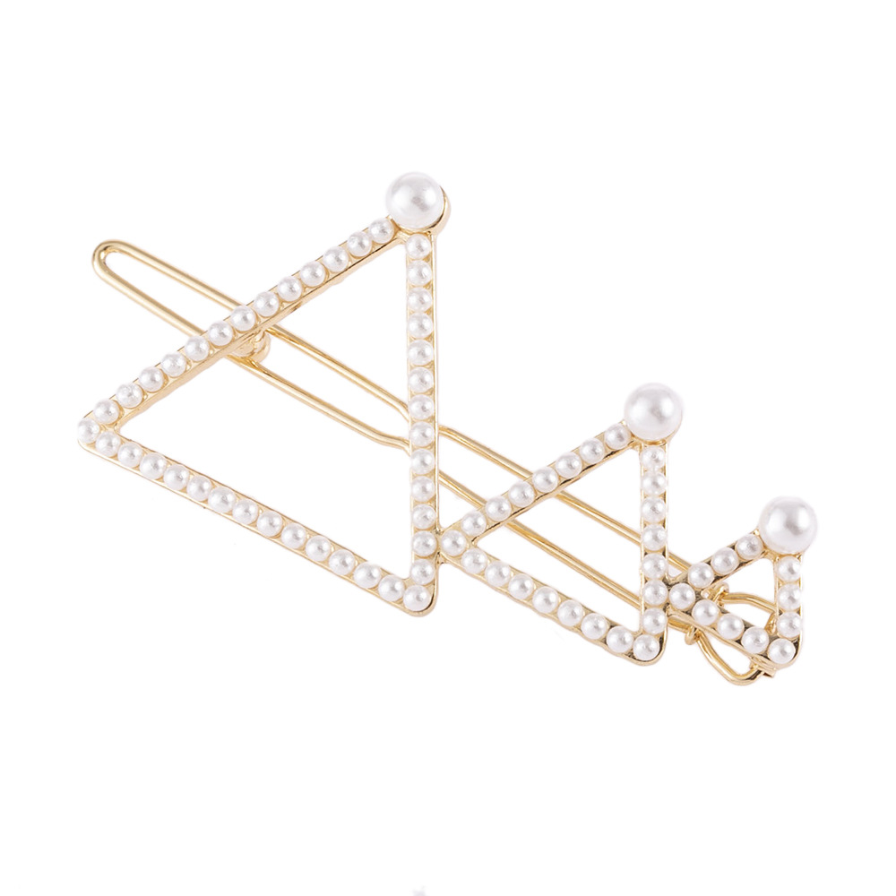 1pc Hair Clips For Women  Rhinestone Pearl Alloy Hair Clip Size Arranged Hair Clips Creative Hair Accessories Headdress G0730