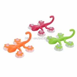 Gecko Wall Hook Hanger With 4 Strong Suction Cup For Kitchen Bathroom AccesMJSG