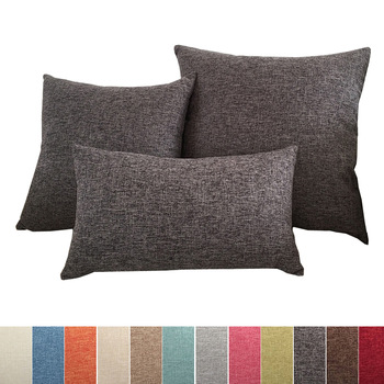 Solid Color Sofa Cushion Cover 1