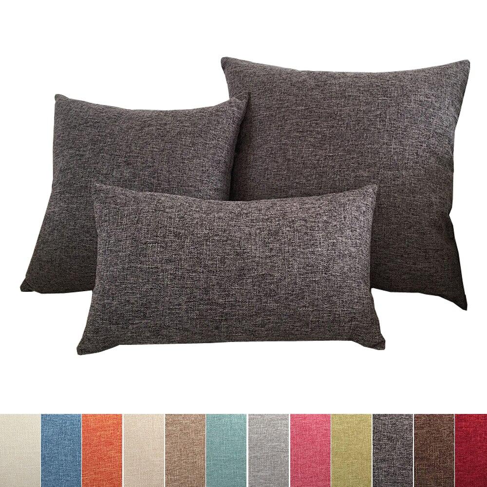 Solid Sofa Cushion Cover 30x50/40x40/45x45/40x60/50x50/55x55/60x60cm Decorative Throw Pillow Case Cover For Car Seat Chair Decor