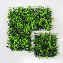 Outdoor Artificial Boxwood Hedge Privacy Fence Grass Mat 10x10inches UV Proof Topiary Vertical Garden plants Balcony Decoration