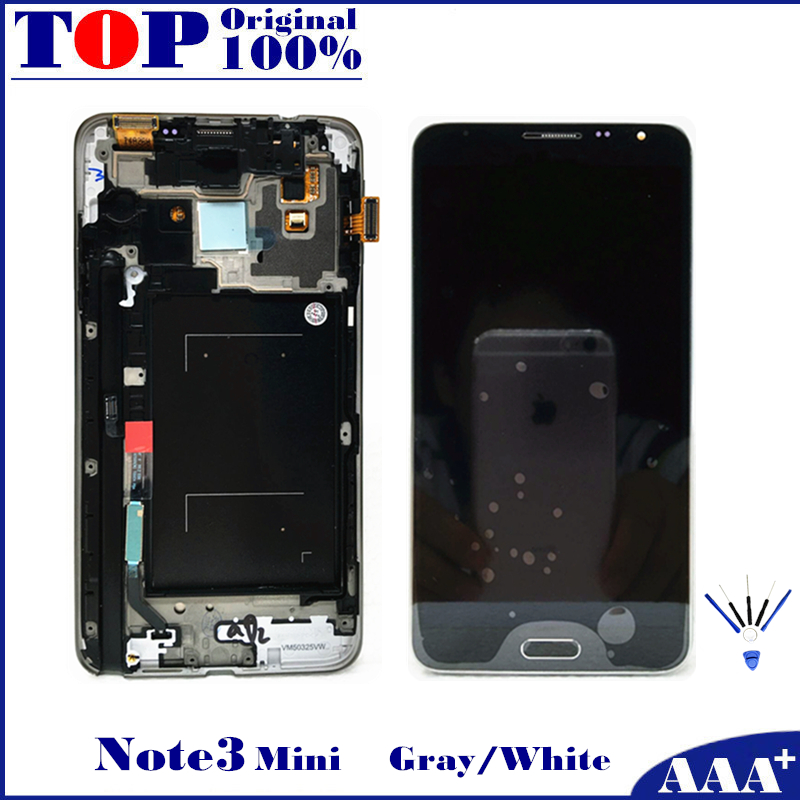 For Samsung Galaxy Note 3 Neo Mini Lite N7505 LCD Replacement Screen Display Touch Digitizer with Frame 100% Tested Working