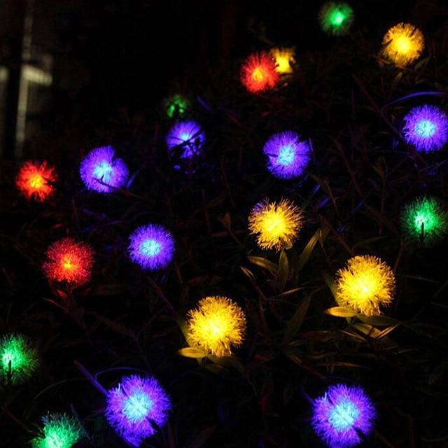 20LED Waterproof Bayberry Globe Solar Powered LED String Lights Outdoor  Garden Patio Lantern Decoration Lighting