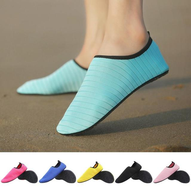 9c4a2f246fa5 US $7.4 42% OFF|Womens Mens Water Shoes Barefoot Quick Dry Aqua Socks Beach  Swim Surf Exercise Aqua Shoes 0806-in Upstream Shoes from Sports & ...