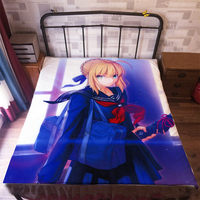 Anime Manga Fate Saber Stay Night Bed Sheet 150*200cm Bedsheet 007