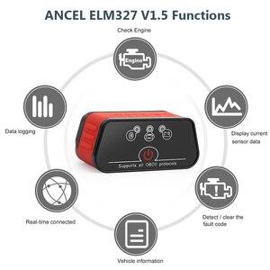 Image 2 - Original Ancel iCar2 icar 2 Bluetooth ELM327 V 1,5 OBD2 Scanner Für Android Telefon Code Reader Diagnose Automotive Scanner Tool