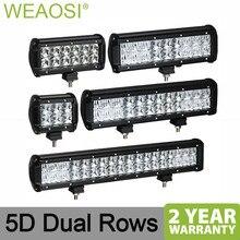 Двойные прямые светодиодный свет работы бар 5D объектив 4 6,5 9 12 17 20 дюймов для автомобиля грузовик 4×4 внедорожник ATV Лодка Авто светодиодный светильник