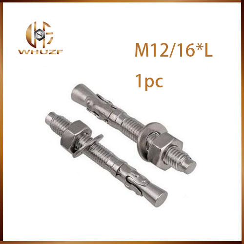 Free shipping Expansion screw wedge anchor through bolt M6 M8 M10 M12 M16 expansion bolt m20 200 2pcs expansion turning wedge anchor hardware accessories