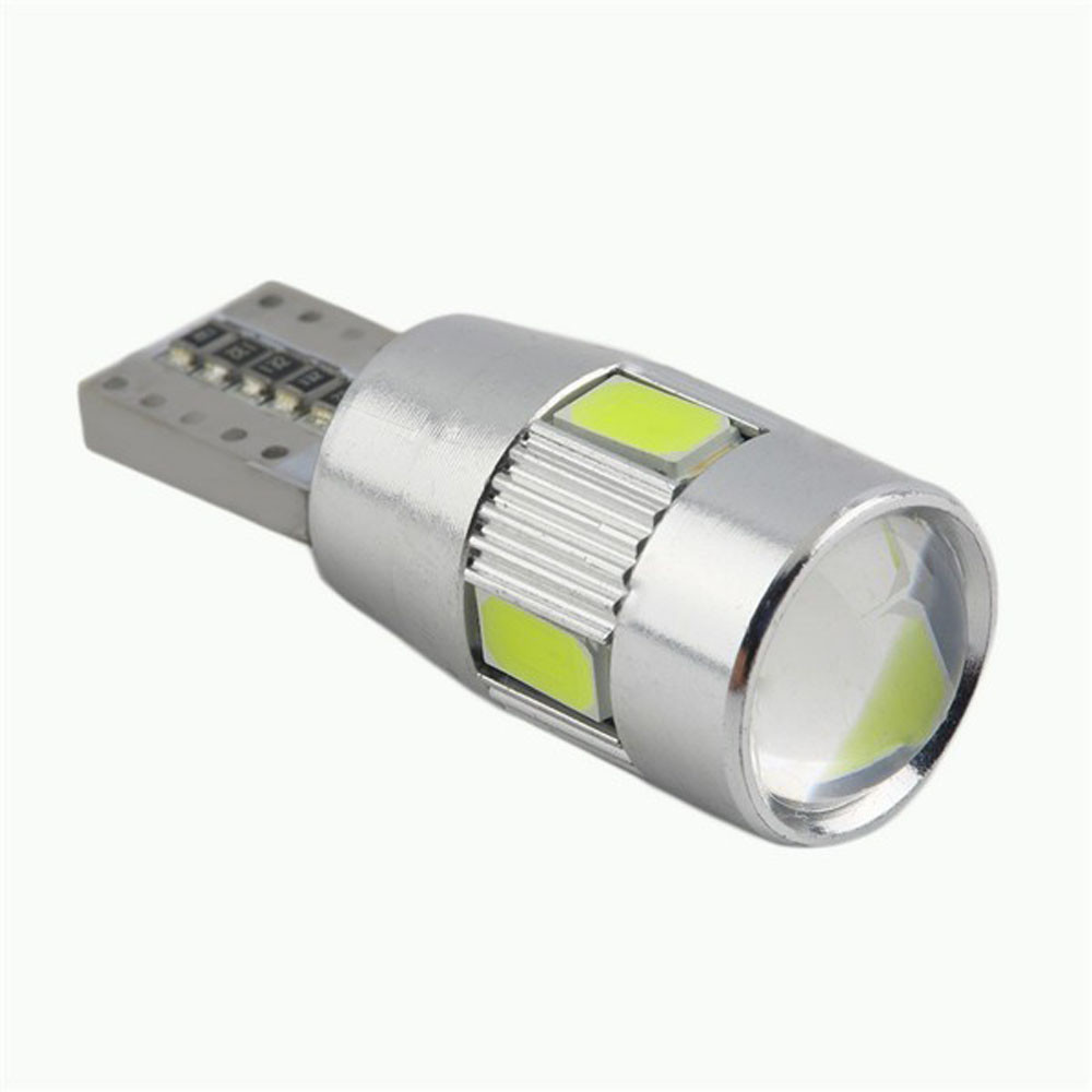 Franchise Car Light Auto <font><b>LED</b></font> 1PC HID White T10 <font><b>W5W</b></font> 5630 6-SMD <font><b>LED</b></font> Lights <font><b>Bulb</b></font> Lamp <font><b>12V</b></font> Cargo/Trunk Plate Position Eyelid Light image