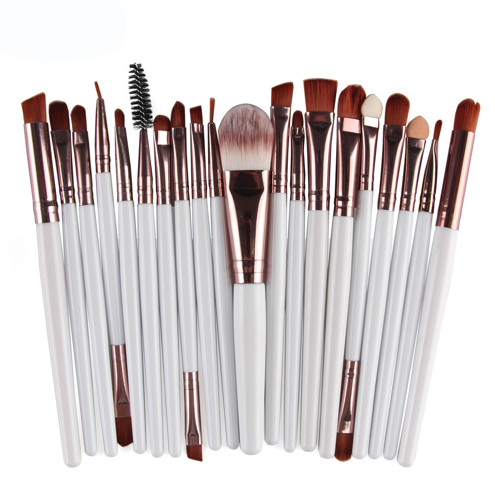 20pcs\/set Makeup Brush Set tools Make up Toiletry Kit Wool handle Synthetic Hair Soft Beauty ...