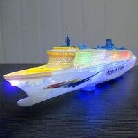 Electric Cruises Ship Model Boat Toys Music Flashing Children Kids Gift Game