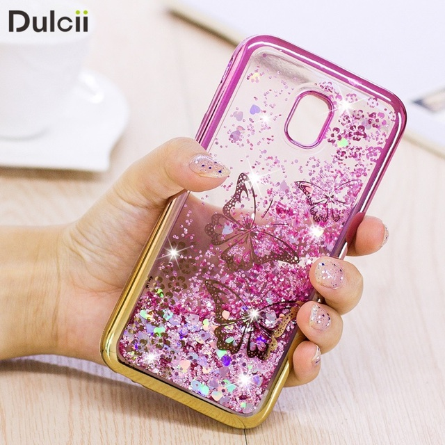 wholesale dealer 89949 b5805 US $6.99  DULCII J7 Pro J7 2017 Glitter Case Quicksand Soft Back Cover for  Samsung Galaxy J7 2017 EU Version J7 Pro Butterfly-in Fitted Cases from ...