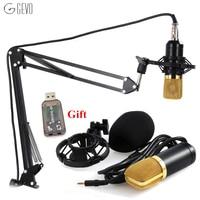 BM700 Dynamic Microphone Broadcast Studio Mic Suspension Boom Scissor Arm Stand Kit For Studio Broadcast WST
