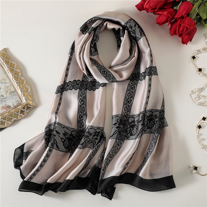 2018 New Womens Silk   Scarf   Large Size Print Shawl and   Wrap   Female Pashmina Foulard Summer Bandana Beach Stoles Hijabs