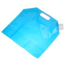 Portable 5L Folding Water Storage Lifting Bag Camping Hiking Survival Food grade PE Water Bags