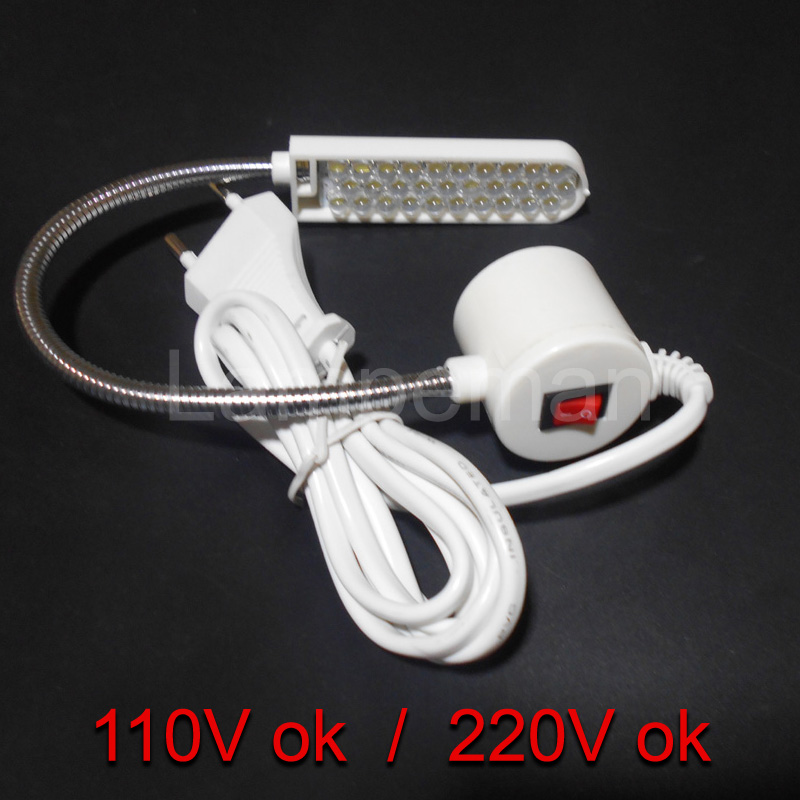 Gooseneck Sewing Machine Working Light 30 LED Working Lamp With Magnetic Mounting Base For All Sewing Machine Lightinglampenstar