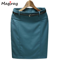 Plus Size Fashion 2014 High Waist Above Knee Women S Pencil Formal Skirt Office Wear Slim