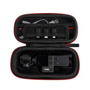 Image 4 - Osmo 포켓 짐벌 및 제어 휠 다이얼 휴대용 가방 예비 부품 스토리지 박스 하드 쉘 케이스 dji osmo 포켓 카메라