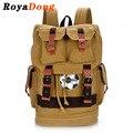 RoyaDong 2017 High Quality Men Backpacks Canvas Vintage Drawstring Multi-Use Backpack Male Travel Bag Laptop Backpacks